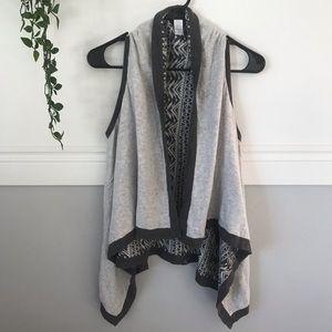 Ivivva Shirts & Tops - Ivivva Girls Gray Reversible Sweater Drape Vest